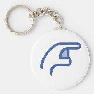 facebook POKE me Basic Round Button Key Ring