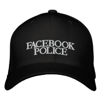 FACEBOOK, POLICE EMBROIDERED BASEBALL CAPS