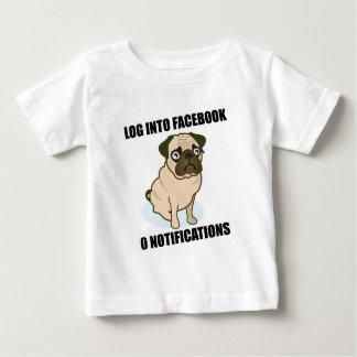 Facebook pug has 0 notifications t-shirts