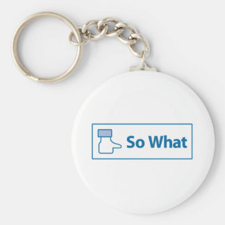 Facebook So What Keychain