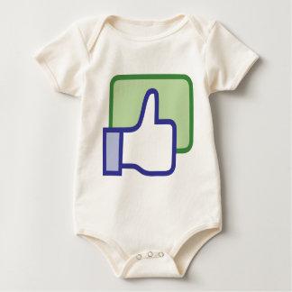 Facebook thumb up baby bodysuit