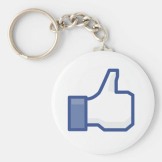 facebook thumbs up LIKE graphic Key Chain