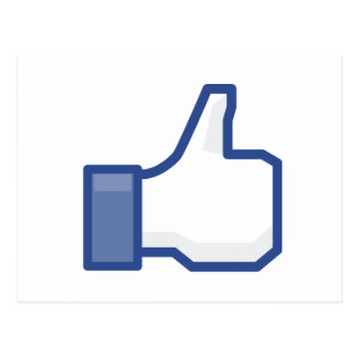 facebook thumbs up LIKE graphic Postcard