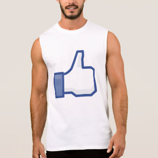 facebook thumbs up LIKE graphic Sleeveless men TEE