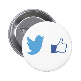 Facebook Twitter 6 Cm Round Badge