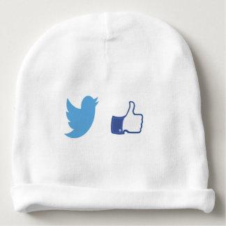 Facebook Twitter Baby Beanie