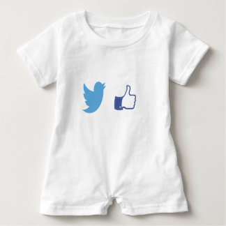 Facebook Twitter Baby Bodysuit
