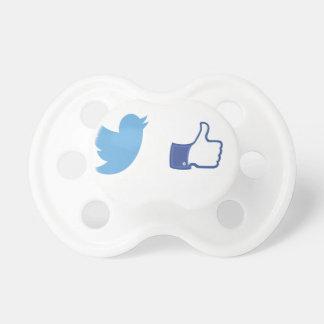 Facebook Twitter Baby Pacifiers