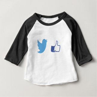 Facebook Twitter Baby T-Shirt