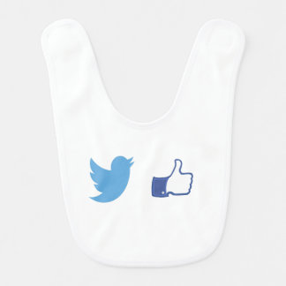 Facebook Twitter Bib