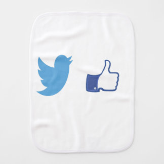 Facebook Twitter Burp Cloth