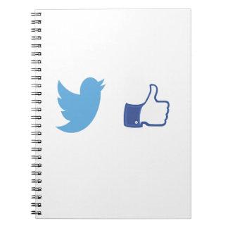 Facebook Twitter Notebook