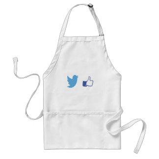 Facebook Twitter Standard Apron