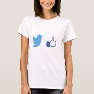 Facebook Twitter T-Shirt