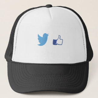 Facebook Twitter Trucker Hat