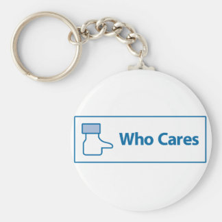 Facebook Who Cares Basic Round Button Key Ring