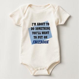 Facebook Worth or Worthy Baby Bodysuit