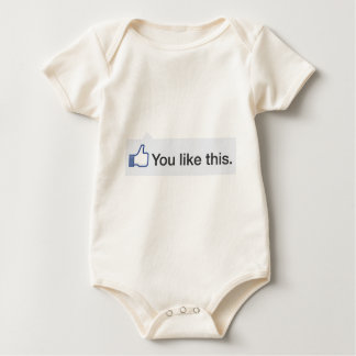 facebook YOU LIKE THIS graphic Baby Bodysuit