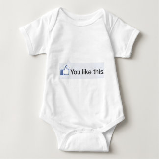facebook YOU LIKE THIS graphic T-shirts