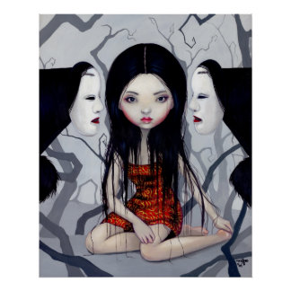Faceless Ghosts gothic japanese horror Art Print