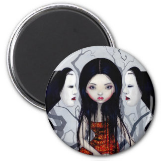 """""""Faceless Ghosts"""" Magnet"""