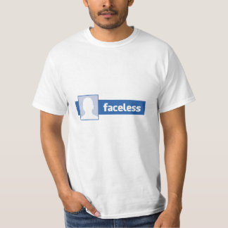 Faceless Man - Anonymous Profile Pic T-shirt