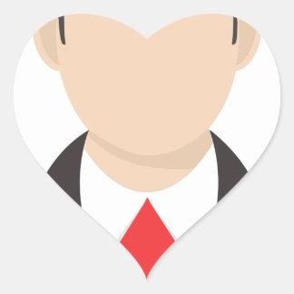 Faceless Man Heart Sticker