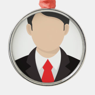Faceless Man Metal Ornament