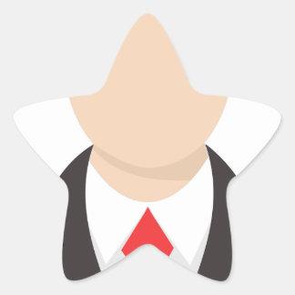 Faceless Man Star Sticker