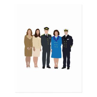 Faceless Royal Family illustration Postcard