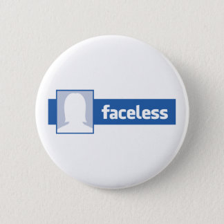 Faceless Woman - Anonymous Profile Pic 6 Cm Round Badge