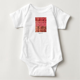 'Faces' Baby T-shirt, art by Maggy Brown Baby Bodysuit