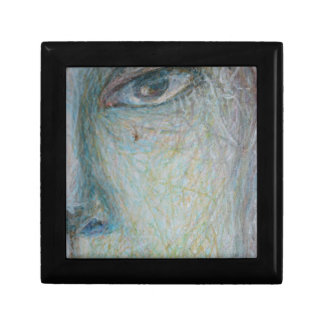 Faces - Close Up Small Square Gift Box