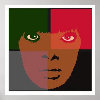 Faces Color Block Poster