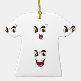 faces ceramic T-Shirt ornament