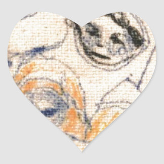 Faces Heart Sticker
