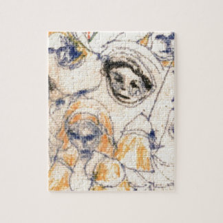Faces Jigsaw Puzzle