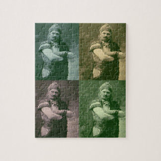 faces of 1909 crazy French opera singer Jigsaw Puzzle