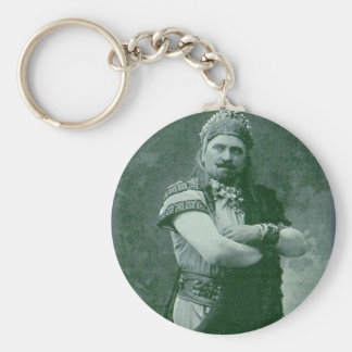 faces of 1909 crazy French opera singer Key Ring