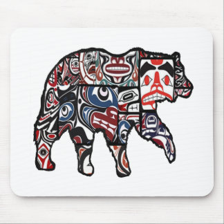 FACES OF FOREST MOUSE PAD