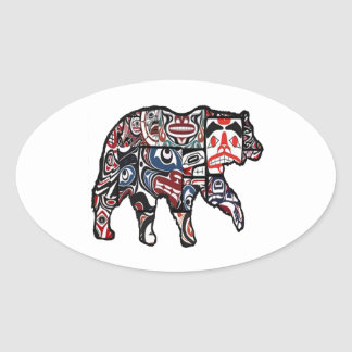 FACES OF FOREST OVAL STICKER