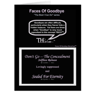 Faces Of Goodbye – Selfless Release Lavender Card