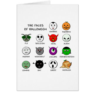 Faces of Halloween Card