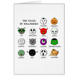 Faces of Halloween Greeting Card