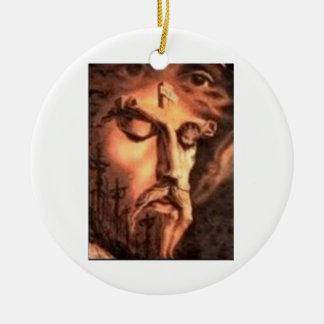 FACES of JESUS Round Ceramic Decoration