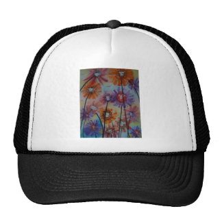 Faces of the flowers cap
