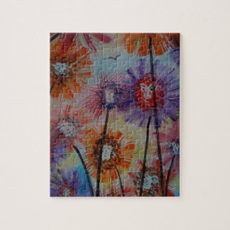 Faces of the flowers jigsaw puzzle