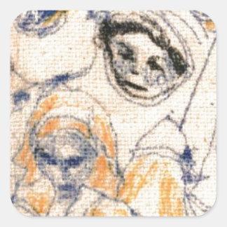 Faces Square Sticker