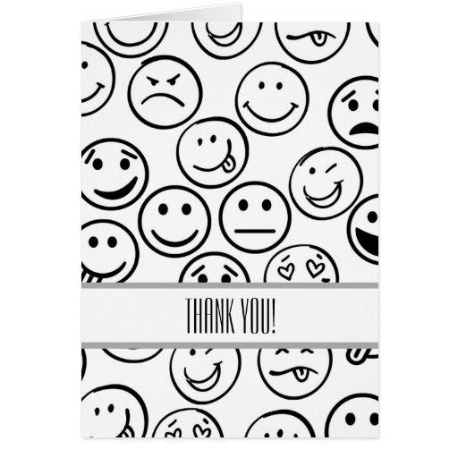 Faces Thank You Card