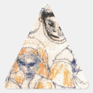 Faces Triangle Sticker